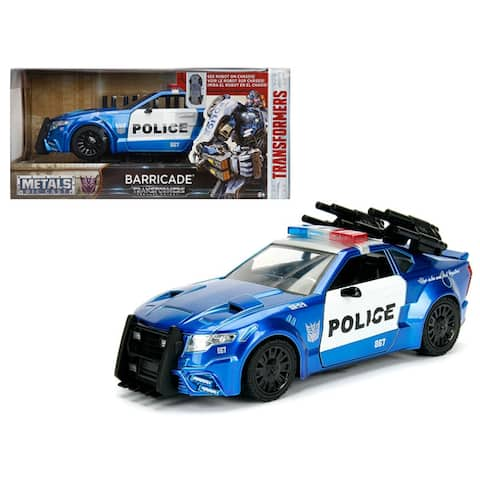 Barricade Custom Police Car From Transformers Movie 1/24 Diecast Model Car by Jada Metals