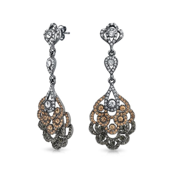 e65fa949f Shop Boho Vintage Style Pink Black White Crystal Lace Chandelier Statement  Prom Pageant Earrings For Women Plated Alloy - On Sale - Free Shipping On  Orders ...