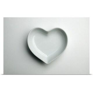"""White Heart"" Poster Print"