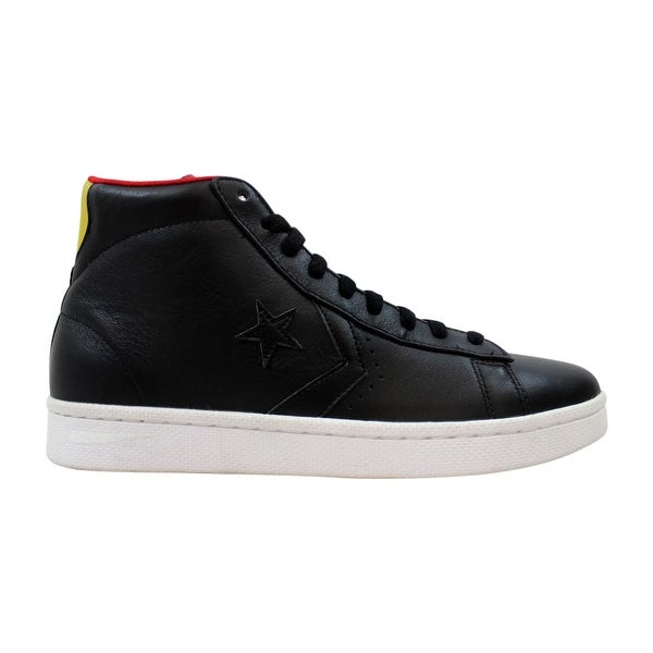 248f78c4bcfad4 Shop Converse Pro Leather Mid Black Varsity 136787C Men s - Free Shipping  Today - Overstock - 27876820