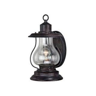 Vaxcel Lighting T0216 Dockside 1 Light Outdoor Wall Sconce with Clear Glass Shade