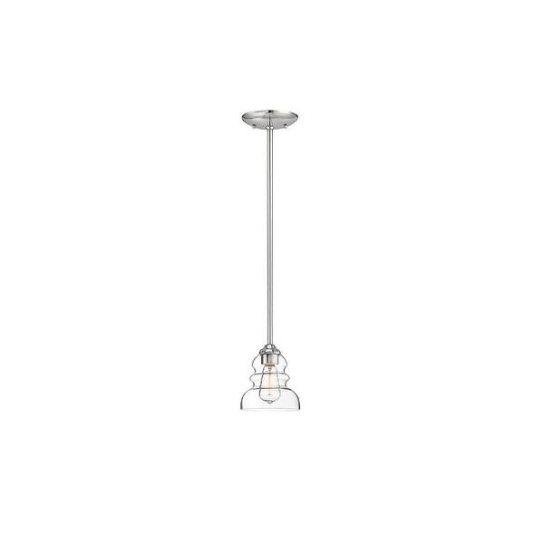"Millennium Lighting 7341 Brighton 1-Light 6"" Wide Mini Pendant with Glass Shade - N/A"