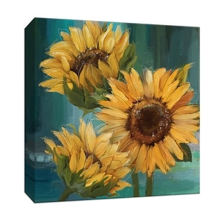 """PTM Images 9-146718  PTM Canvas Collection 12"""" x 12"""" - """"Sunflower I"""" Giclee Flowers Art Print on Canvas"""