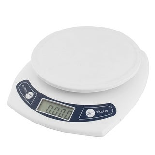 Unique Bargains Kitchen 7kg 7000g/1g Mini Digital Electronic Weight Scale White