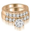 1.55 cttw. 14K Rose Gold Round Cut Diamond Engagement Set - Thumbnail 0