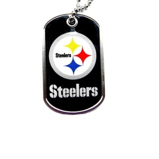 Pittsburgh Steelers Dog Tag Necklace Charm Chain