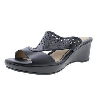 Naturalizer Womens Viola Leather Slide Wedge Sandals