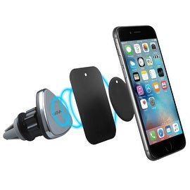 Skiva Premium Magnetic Car Mount Air Vent Portable Cradle Holder for iPhone 7 6 6s Plus SE, Samsung Galaxy S7 S6 Edge S5 Note 5