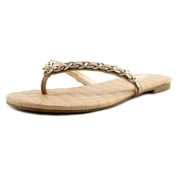 INC International Concepts Maceo Women Open Toe Synthetic Nude Thong Sandal
