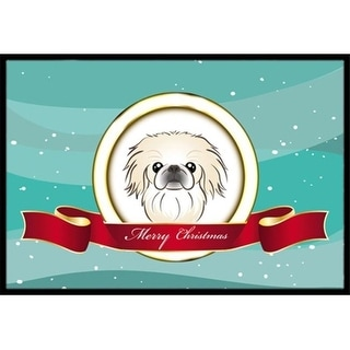 Carolines Treasures BB1531MAT Pekingese Merry Christmas Indoor & Outdoor Mat 18 x 27 in.