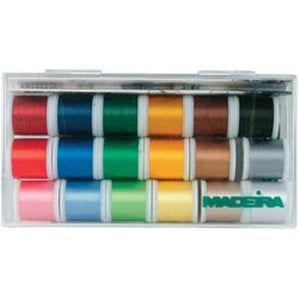 Madeira Rayon Thread Sampler-18 Spools