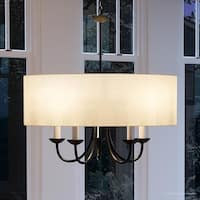 """Luxury Transitional Chandelier, 21.125""""H x 21.625""""W, with Shabby Chic Style, Olde Bronze Finish by Urban Ambiance"""