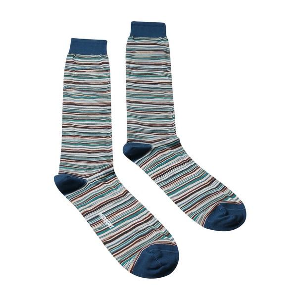 Missoni GM00CMU5694 0003 Teal/Gray Calf Length Socks - L