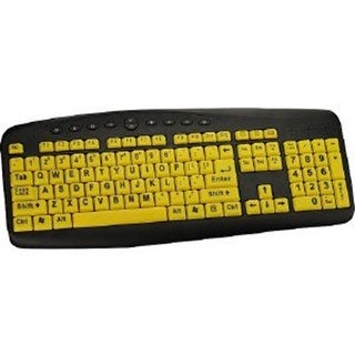 Ergoguys CST104LPY 104 Key High Visibility Soft Touch Wired Keyboard