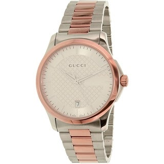 gucci watches for men. gucci men\u0027s g-timeless ya126447 two-tone stainless-steel plated dress watch watches for men