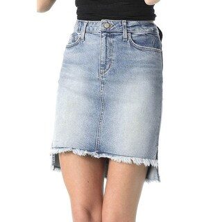 Shawny High Low Skirt in Blue