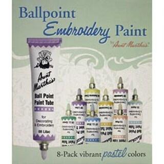 Pastel Colors - Aunt Martha's Ballpoint Paint Tubes 1Oz 8/Pkg
