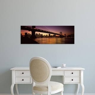 Easy Art Prints Panoramic Image 'Bridge across river, Manhattan Bridge, Manhattan, New York City, New York' Canvas Art