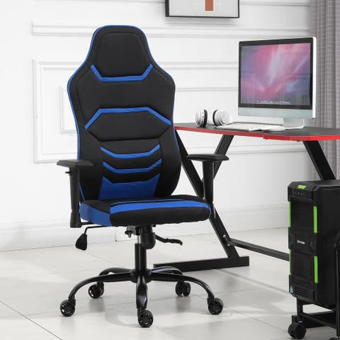 Vinsetto High Back Racing Style Gaming Office Chair Home Computer Task Seat on Wheels, Tilt, Adjustable Armrest