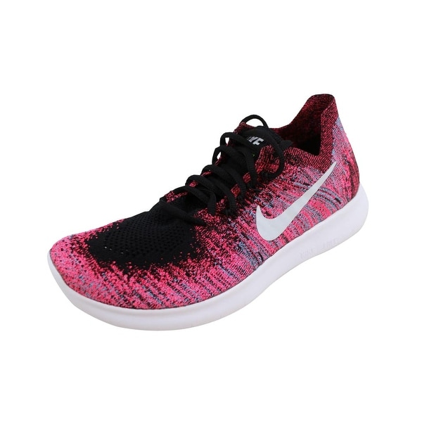 new product 3db17 9a73d Shop Nike Women's Free RN Flyknit 2017 Black/White-Racer ...