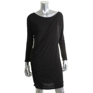 Theory Womens Cleona Viscose Mini Little Black Dress - p