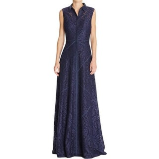 Aidan Mattox Womens Evening Dress Lace Applique