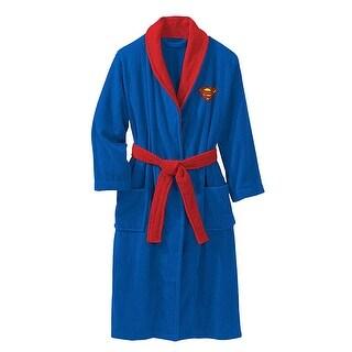 DC Comics Superman Silhouette Lightweight Towel Robe (One Size)