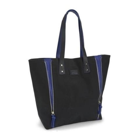 Aeropostale Womens Solid Zippered Tote Handbag Purse - Medium (23 in. - 25 in.)