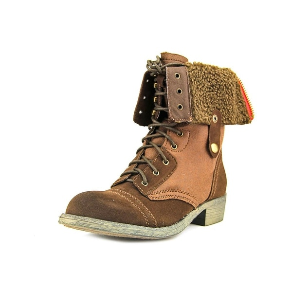 r.b.l.s. Andale Women Round Toe Canvas Brown Winter Boot