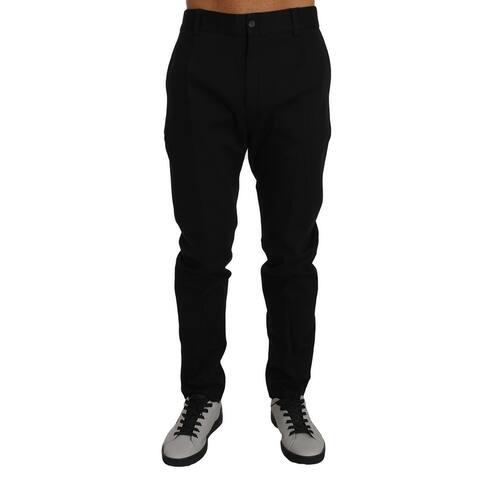 Pants Black Cotton Formal Dress Men's Trousers