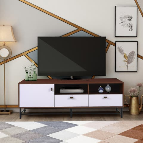 65-inch Media TV Stands with Metal Legs