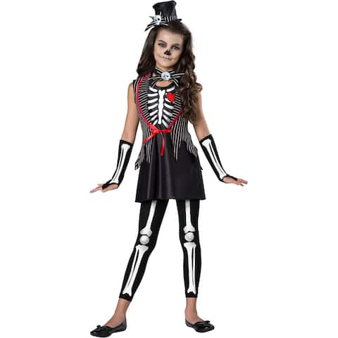Girls Skeleton Cutie Halloween Costume