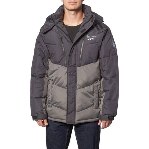 Reebok Heavyweight Puffer Coat for Men- Insulated Hooded Winter Bubble Jacket