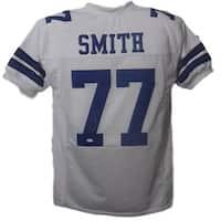 Tyron Smith Autographed Dallas Cowboys Custom Size XL White Jersey JSA