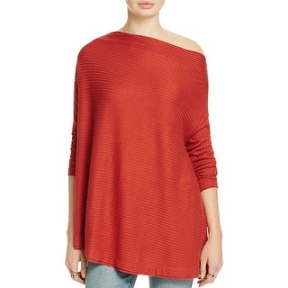 We The Free Womens Casual Top Ribbed Cutout