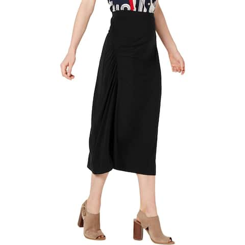 Tommy Hilfiger Womens Maxi Skirt Side Ruched Stretch