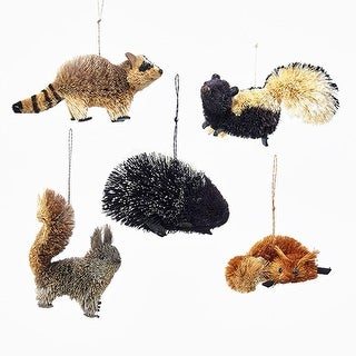 Club Pack of 50 Buri Woodland Animal Decorative Hanging Ornaments 6""