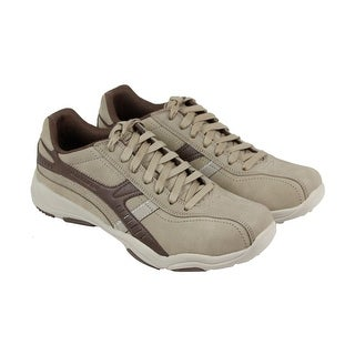 Skechers Larson Almelo Mens Brown Leather Casual Dress Lace Up Oxfords Shoes