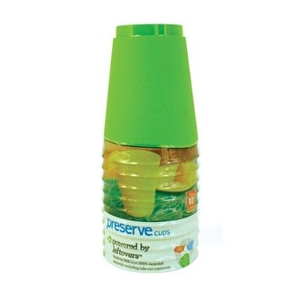 Preserve On the Go 16 Ounce Cups, Set of 10, Apple Green