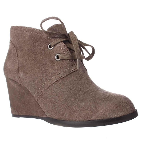 Lucky Brand Seleste Lace Up Wedge Booties, Brindle