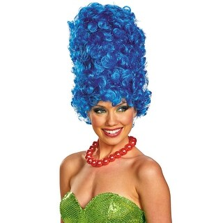 Disguise Marge Deluxe Glam Wig - Blue