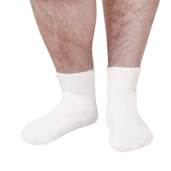 "Extra Wide Sock Co. Men's Bariatric Diabetic Ankle Socks - Up to 24"" Calves"