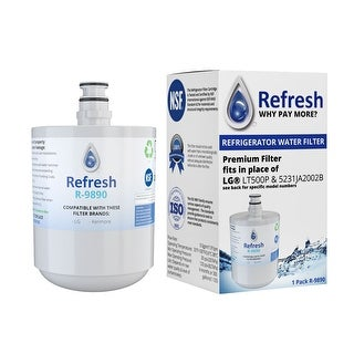6 Pack Aqua Fresh Replacement Water Filter Fits LG LFX25974ST Refrigerators