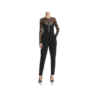 French Connection Womens Jumpsuit Lace Long Sleeves