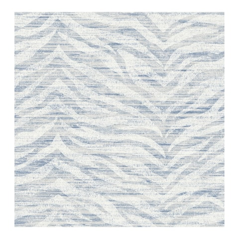 Antibes Blue Chevron Texture Wallpaper - 20.5 x 396 x 0.025