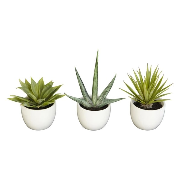 Nearly Natural Southwest Collection - Set of 3 - Green