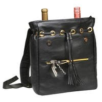 Women's Wine Backpack Carrier - Insulated Bottle Carrying Case
