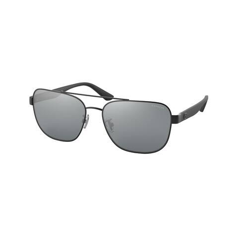 Coach HC7122 93806G 58 Matte Black Man Pillow Sunglasses