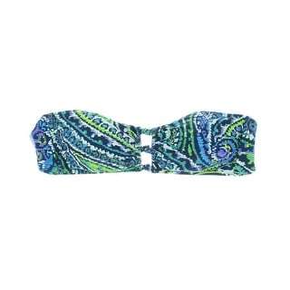 Lauren Ralph Lauren Womens Printed Bandeau Swim Top Separates