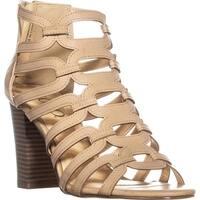XOXO Bloomington Heeled Zip Up Sandals, Bone